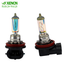 XENCN H8 12V 35W White Diamond Light Colorful Car Light Bulbs Halogen Replace Upgrade Fog Lamp