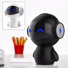 Newest Cute Robot 2200MA Power Bank Bluetooth Stereo Handsfree Speaker AUX TF MP3 Music Player Cell phone Call Charging