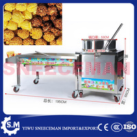 commercial rounder ball popcorn Machine with 1.5kg volume manual gas popcorn maker