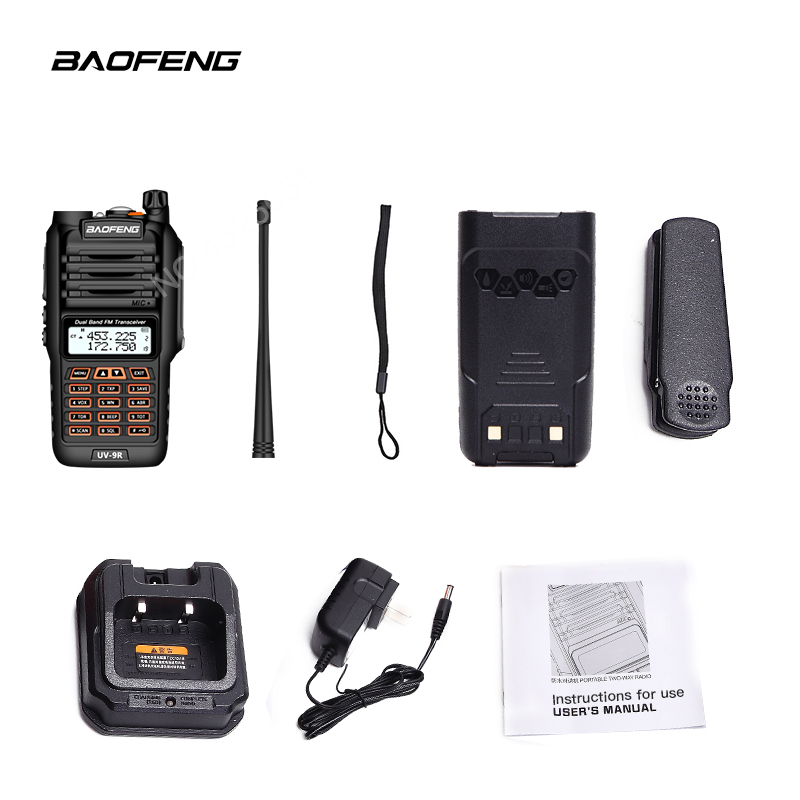 Image 4 - BaoFeng UV 9R Plus Waterproof Handheld Walkie Talkie 8Watts UHF VHF Dual Band IP67 HF Transceiver UV 9R Ham Portable Radio-in Walkie Talkie from Cellphones & Telecommunications