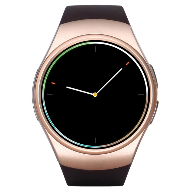 KingWear KW18 Bluetooth Smart Watch Phone 1.3 inch Round Wristwatch SIM Pedometer Heart Rate Monitor for Android Xiaomi IOS