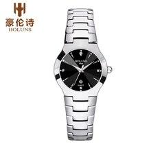 HOLUNS DM201 Смотреть Женева Марка Подлинные часы Тонкий мода деловых женщин алмаз календарь вольфрама relógio feminino