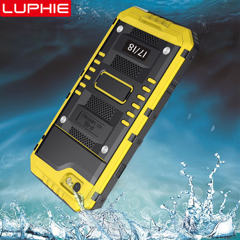 the best attitude 26eab 9946a US $16.76 26% OFF|LUPHIE Shockproof Waterproof Case For iPhone X 8 7 6 6S  Plus 5 5S SE Heavy Duty Armor Cover For iPhone 8 7 Plus Waterproof Cases-in  ...
