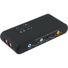 Tarjeta de sonido USB2.0 con tarjeta de Cmi 6206, Chipset, tarjeta de sonido USB 7,1 con Cable de extensión SPDIF y USB, soporte de activación remota