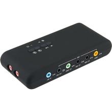 USB2.0 ses kartı kartlara ekle Cmi 6206 yonga seti USB 7.1 ses kartı SPDIF ve USB uzatma kablosu uzaktan uyandırma destek