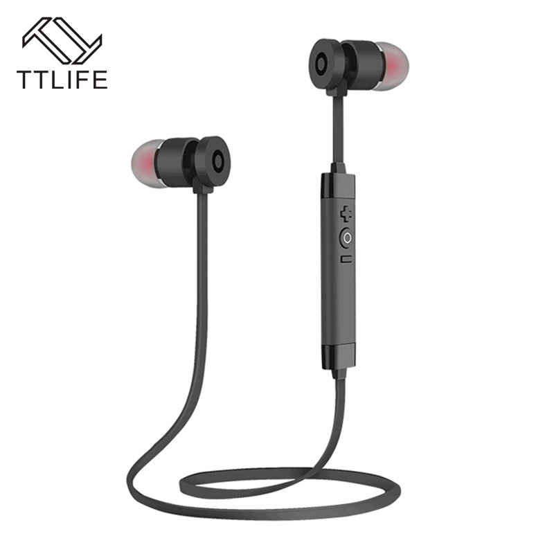 TTLIFE Brand Metal Stereo Auriculars Bluetooth Earbud Headset Earphone Wireless Sports Headphones For all Phones Smartphones