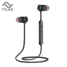 Auriculars TTLIFE Marca Metal Estéreo Bluetooth Auricular Auricular Auricular Inalámbrico Deportes Auriculares Para el iphone 7 Más Smartphones
