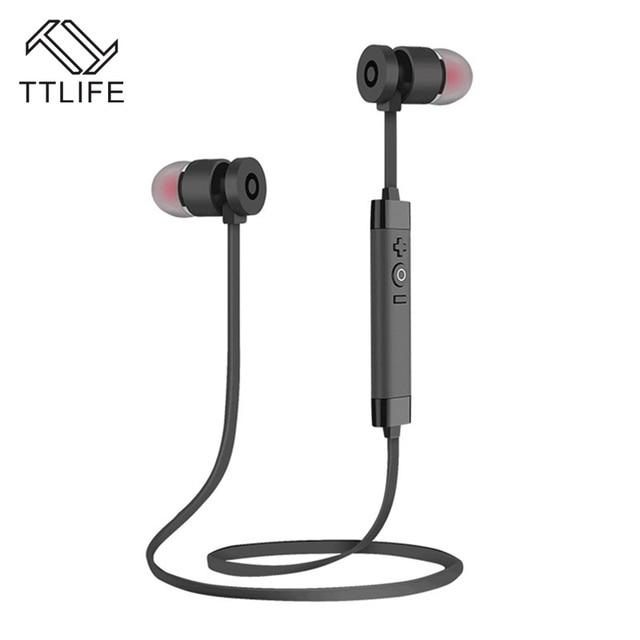 TTLIFE Brand Metal Stereo Auriculars Bluetooth Earbud Headset Earphone Wireless Sports Headphones For iPhone 7 Plus Smartphones