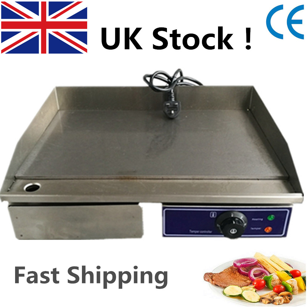 High Quality Stainless Steel Flat Pan Electric Griddle 220V Electric Contact Grill Electric Fried Pans