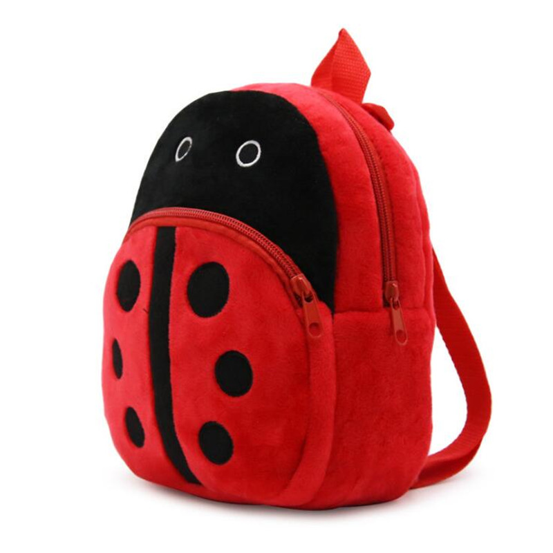 1-3 Years Children Plush Backpack Cartoon Ladybug Bags Baby Toy Kids School Bag For Kindergarten Boy Girl Kawaii Candy Bag Toys