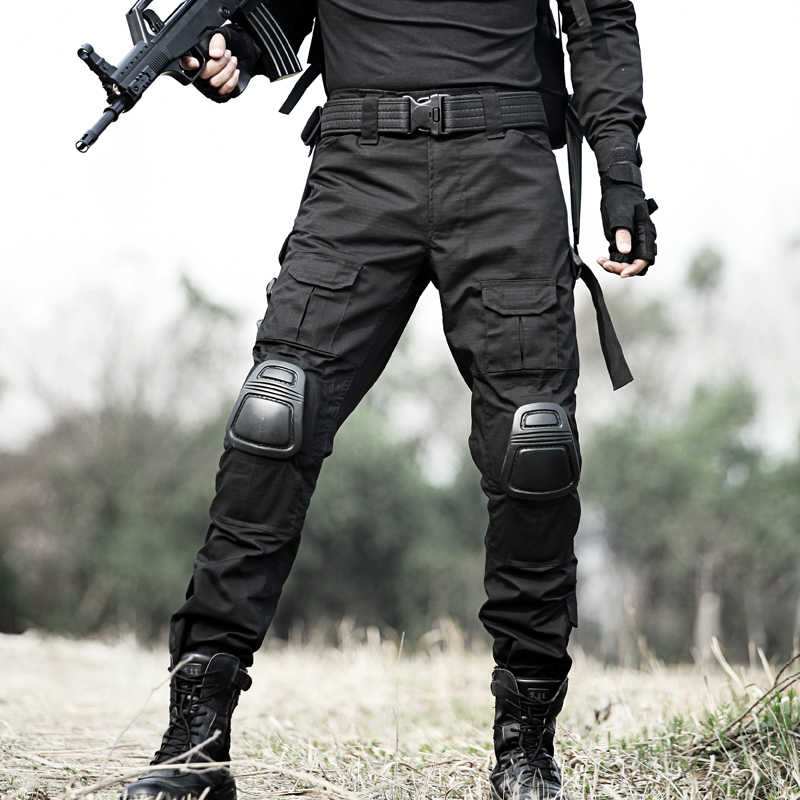 MEGE 12 لون التمويه الملابس التكتيكية جيش زي قتال موحد ، السراويل العسكرية مع منصات الركبة ، Airsoft الألوان الملابس