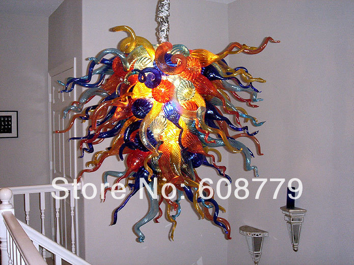 Big Multi Color Glass Light Unique Crystal Chandeliers In From Lights Lighting On Aliexpress Com Alibaba Group