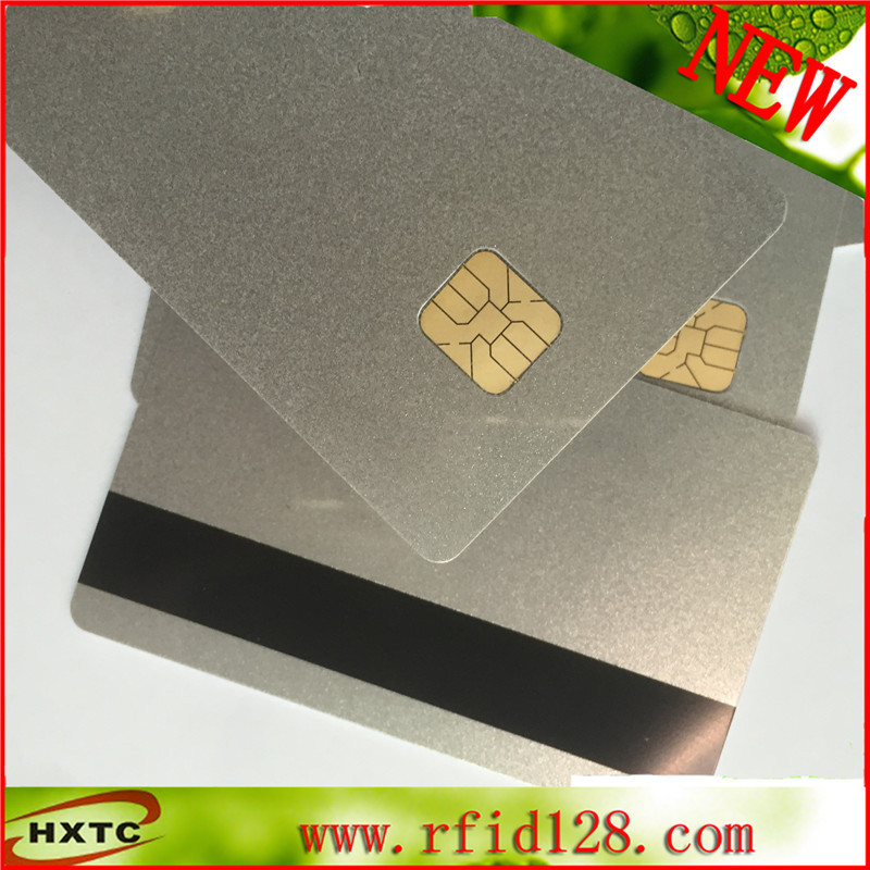 100PCS/Lot pvc blank Sle4428 Chip Silver Card with 3 track Magnetic Stripe smartcard for Access Control system Free Shipping 20pcs lot contact sle4428 chip gold card with magnetic stripe pvc blank smart card purchase card 1k memory free shipping