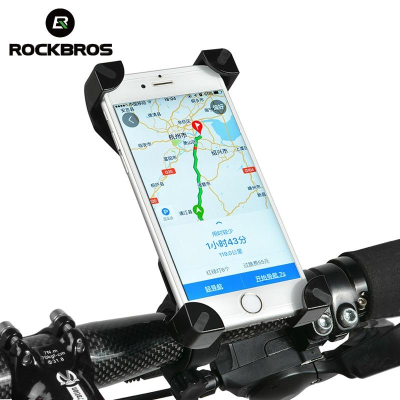 RockBros Bicycle Handlebar Phone Holder Bracket Fit For 3.5-7 inch Phone Black
