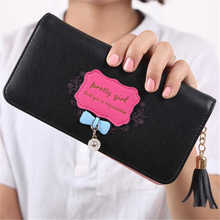 Handbags Women Brands Women Clutch Tassel Bow Long Purse Wallet Card Holder Visiting Cards Bag Ladies Portefeuille Femme #5462