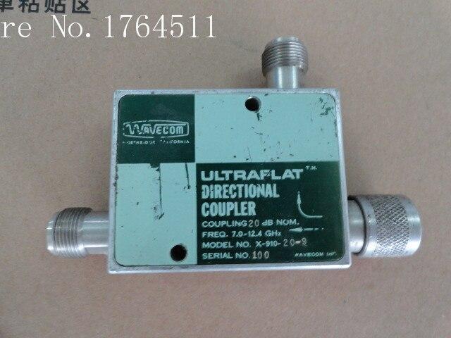 [BELLA] WAVECOM X-910-20-9 7-12.4GHz Coup:20dB Directional Coupler N