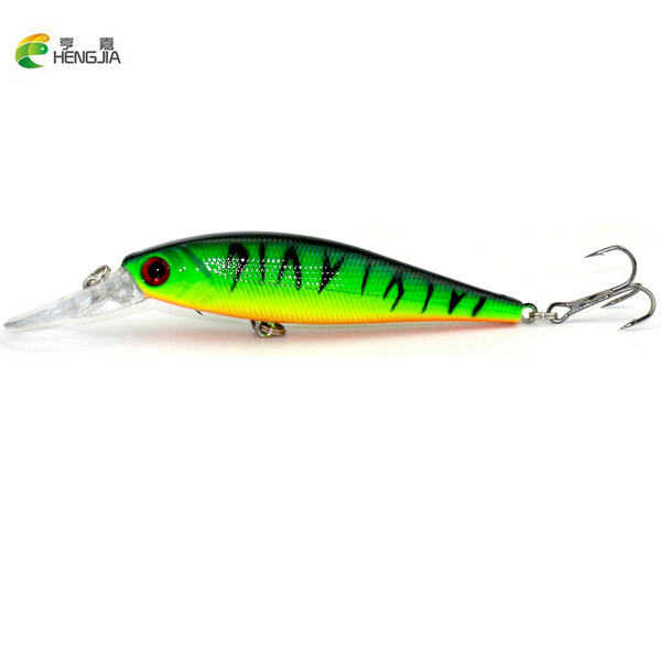HENGJIA 10 pcs/lot Fishing Lure 0.5-1.5M Deep swim hard bait fish 11CM 9.5G artificial baits minnow fishing wobbler japan pesca