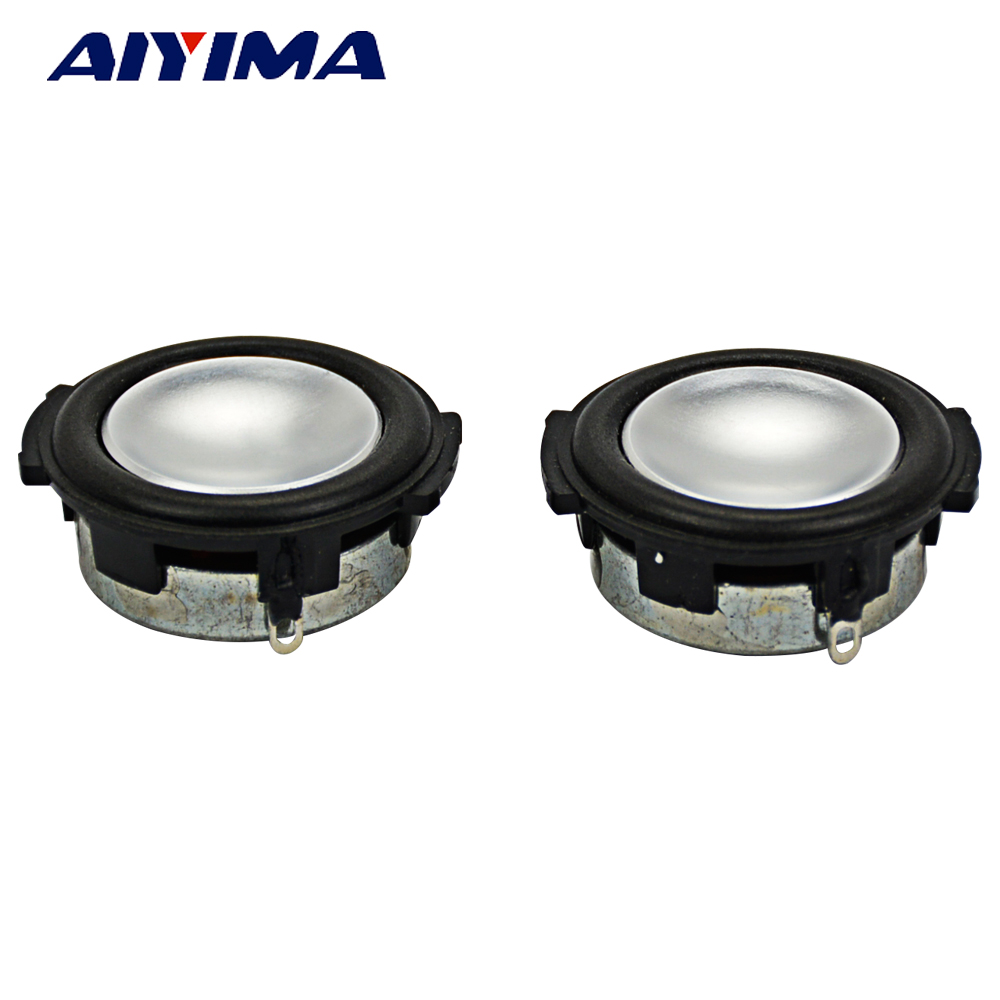 AIYIMA 2Pcs 1Inch Audio Portable Speakers 4Ohm 3W Full Range Speaker Louderspeakers sound production Bluetooth Crystal