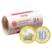 Китайская традиционная культура, 12 памятных монет зодиака,( год свиньи) Новогодние деньги для детей, коллекционные вещи