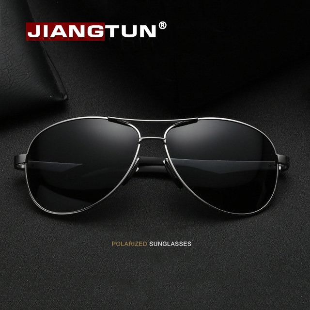 JIANGTUN  New Style Popular Polarized Sunglasses Men Brand Designer For Outside  Magnesium Aluminum Sun Glasses