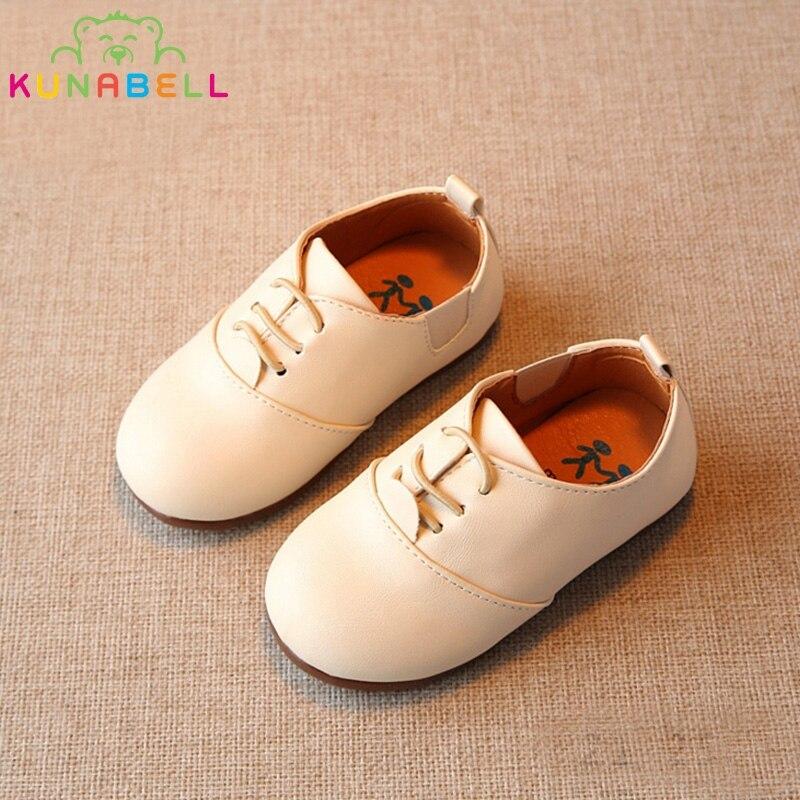 ربيع الأطفال عارضة أحذية طفل الفتيان انكلترا نمط أحذية جلدية بنات لينة أسفل أحذية أطفال الشقق عالية الجودة حذاء c243