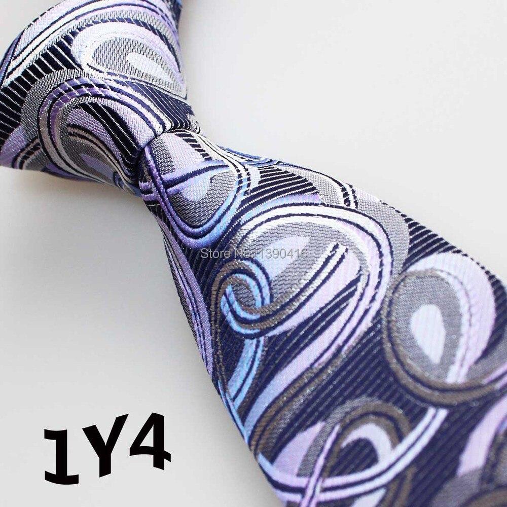 ᗛ2018 los últimos hombres de corbata del estilo púrpura/Lila/blanco ...