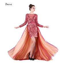 Finove Evening Dresses 2019 with Long Sleeve Prom Dresses