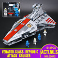 Lepin 05042 New Star War Series The Republic Fighting Cruiser Set Building Blocks Bricks Educational Toys 8039 ACTUALS