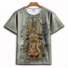 Anime Made in Abyss cosplay T-shirt Printing T shirt Nanachi Cosplay