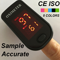 CE ISO 5 COLORS Available Sample Accurate Fingertip Pulse Oximeter Monitor