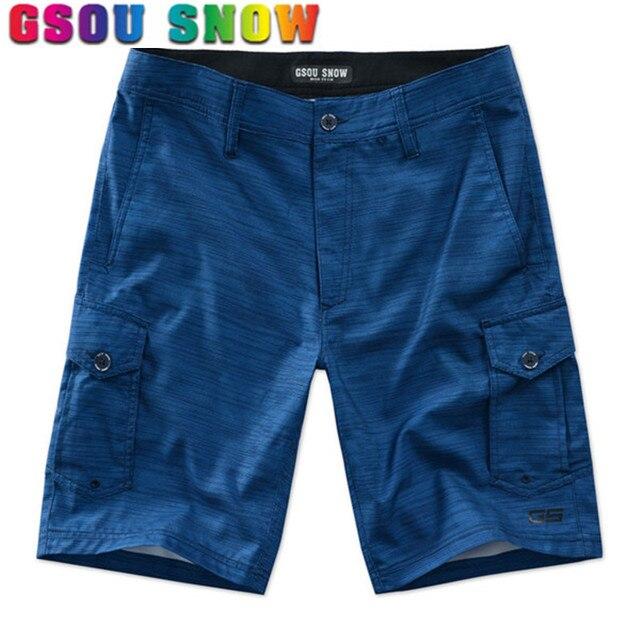 775e088102bd8 Gsou Snow Board Shorts Men Summer Beach Shorts Quick Dry Bermuda Surf Shorts  Motorboat Swimming Boardshorts Plus Size Swimwear