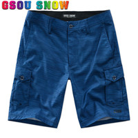 Gsou Snow Board Shorts Men Summer Beach Shorts Quick Dry Bermuda Surf Shorts Motorboat Swimming Boardshorts Plus Size Swimwear