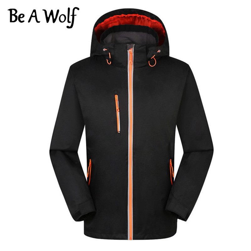 Be A Wolf Outdoor Camping Skiing Hunting Hiking Clothes Fishing Winter Heated Jackets Men Windbreaker Waterproof Jacket J1628