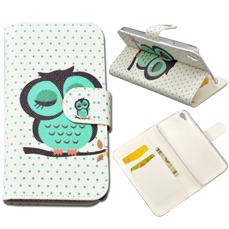 10 Patterns Alcatel Idol 3 5.5 Fashion Wallet PU Leather Stand Case For Alcatel One Touch Idol 3 6045 6045Y 6045K 5.5'' Cover