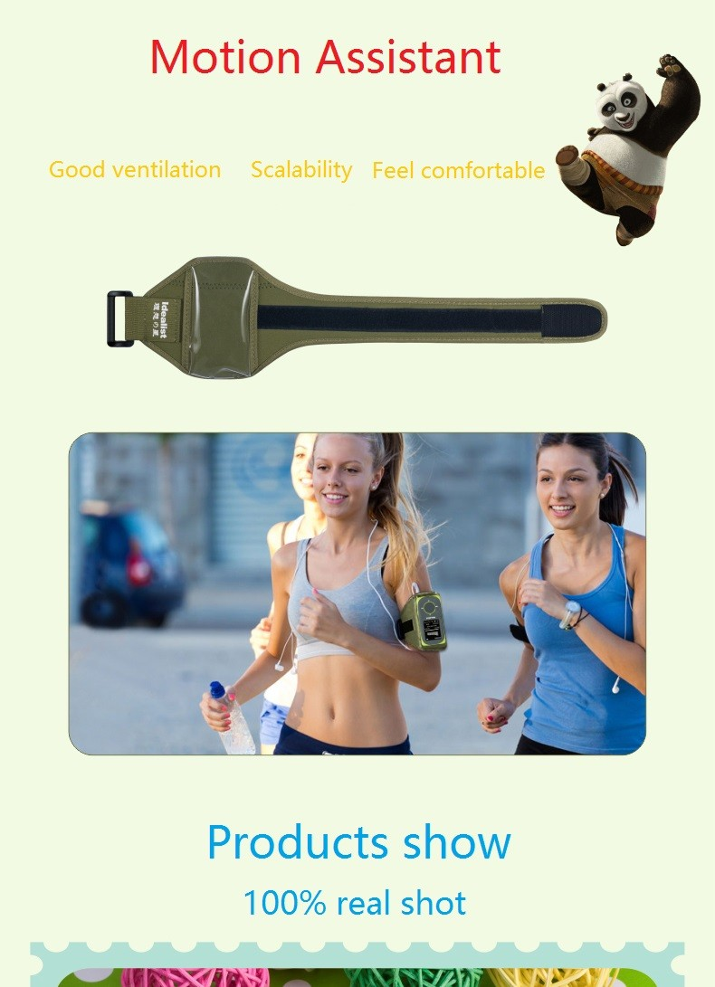 """Idealist Sport HIFI Running MP3 Player 1.8"""" Lossless MP4 Player Support Picture Recording Video TF With Earphone Armband Speaker 16"""