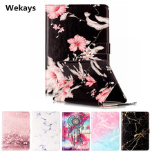 Wekays Tablet Case For Samsung Galaxy Tab S3 9.7 T820 T825 Cover Flip PU Leather Stand Kickstand Case Cartoon Windbell Fundas цена и фото