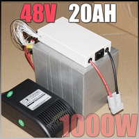 48V 20Ah LiFePO4 Battery Pack 1000W Electric Bicycle Battery BMS Charger 48v Lithium Scooter Electric Bike
