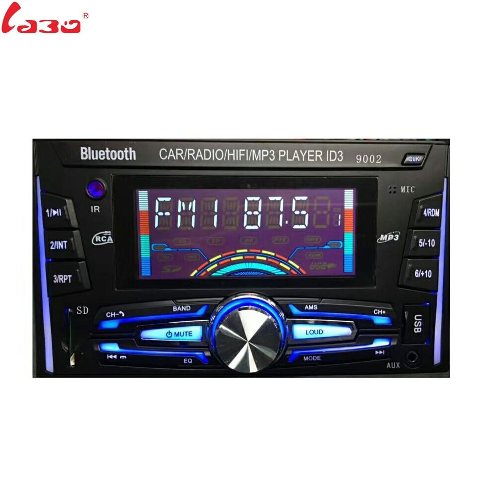 все цены на LaBo 12V Bluetooth Car Stereo FM Radio MP3 Audio Player 5V Charger USB SD AUX Auto Electronics Subwoofer 2 DIN Autoradio