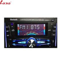 LaBo 12 v Per Auto Bluetooth Stereo FM Radio MP3 Lettore Audio 5 v Caricatore USB SD AUX Auto Elettronica Subwoofer 2 DIN Autoradio