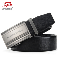 SWORDFISH Genuine Leather Belt Men Luxury Belt Male Leather Strap First Layer Of Cowskin Designer Belts