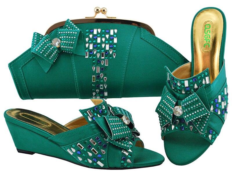 Neueste 1 Mode Und Grün Set Schuhe Tasche Italien 2018 Sb8255 Italienische Passenden Schuh Teal n0qRxOwWzO
