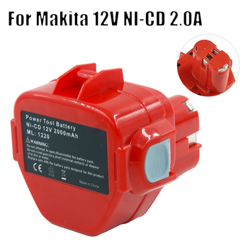 New Rechargeable Power Tool Cordless Battery for Makita 1220 1222 NI-CD 12V 2000MAH 2.0A Fit 5093DWD 6835DWD 1050DWD 4331DWD