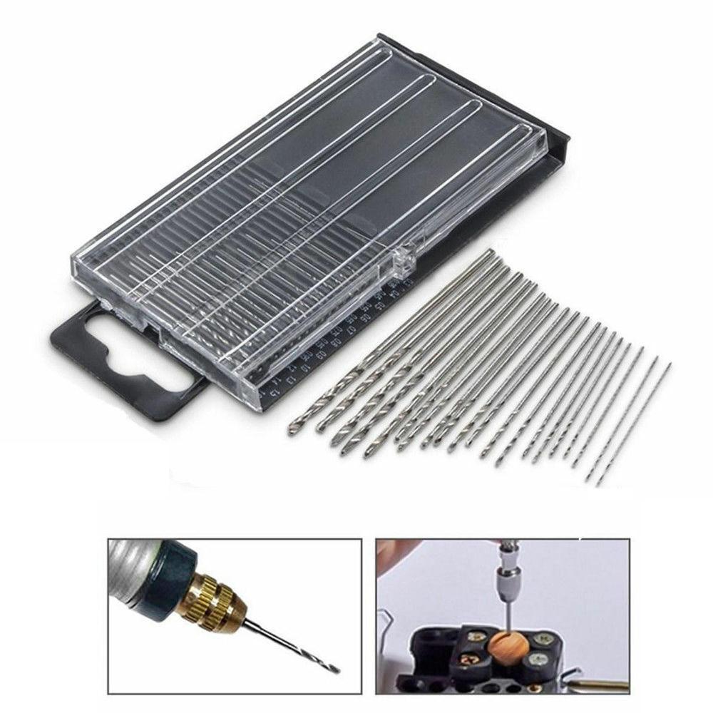 20pcs High Speed Steel HSS Mini Drill Bit Set Tiny Small Micro Twist Drill Bits Model Tools Plastic/Wood Drilling 0.3-1.6mm Hot
