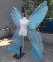 Pure handmade beautirul Butterfly wings big BLUE fairy angel wings Fashion show creative decorations props EMS free shipping