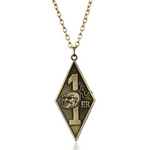MOCHUN Man's Hip Hop Party Jewelry Bandidos Motorcycle Club Necklace 1%er Pendants Necklaces for Mens Choker Necklace(China)