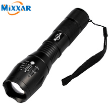 LED Torch Zoomable Cree LED Flashlight E17 CREE XM-L T6 LED 4000 LM Torch Light for 1×18650 3xAAA Rechargeable Battery Light