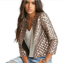 Women Fashion Spring Summer Short Jacket Women Gold Sequins Jackets