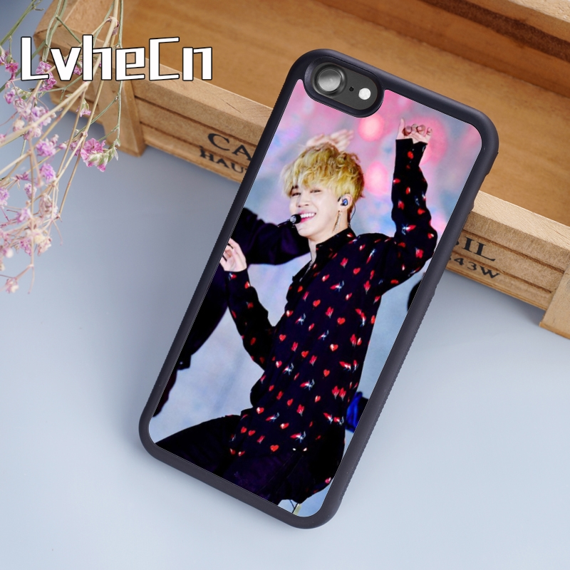 Lvhecn Bangtan Boys Bts Jimin Suga Phone Case Cover For Iphone 4 5s Se 6 6s 7 8 Plus 10 X Samsung Galaxy S6 S7 Edge S8 S9 Note 8 Fitted Cases