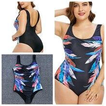 Купить с кэшбэком Sexy Plus Size Swimwear Women One Piece Swimsuit May Female Beach Bather 2019 Push Up Monokini Indoor Swimming Bathing Suit 4XL