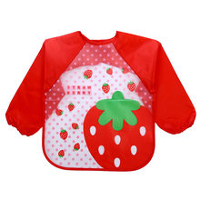 Baby Feeding Smock Cloths Baby Bibs Waterproof Long Sleeve Plastic Bib Baby Apron Waterproof Baberos Bebe Impermeables 2-5 Years(China)